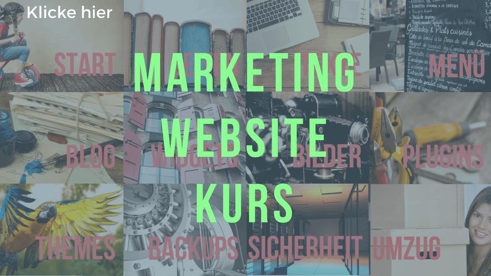 Marketing Website Kurs