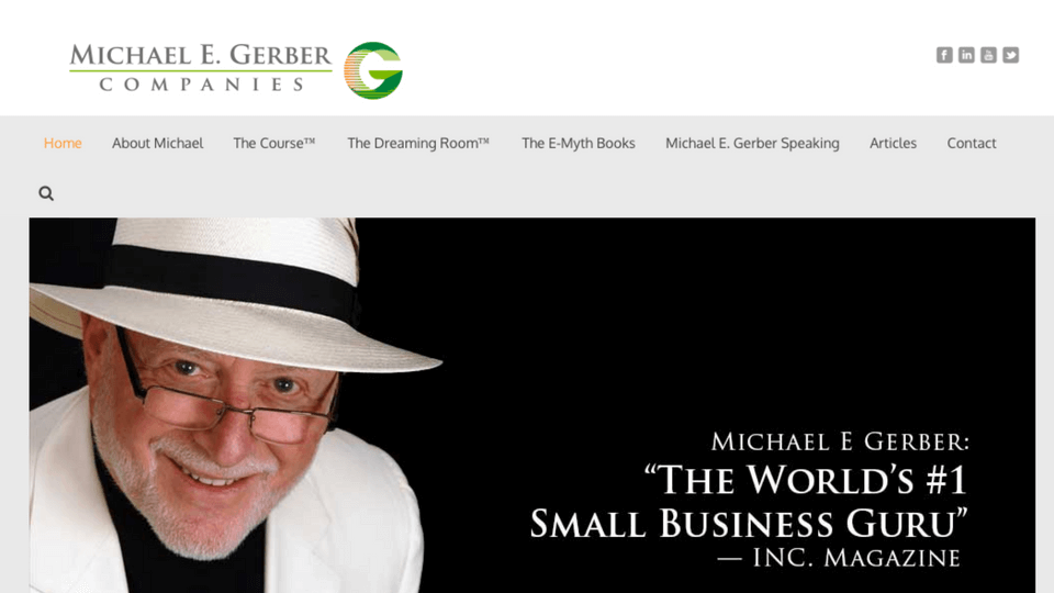 Michael E. Gerber Website Screenshot