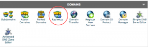 Siteground cPanel Redirects Screenshot