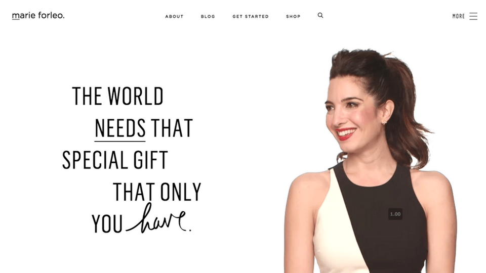 Marie Forleo Website Screenshot