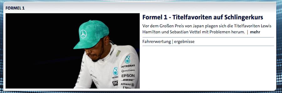 Bericht Lewis Hamilton in Malaysia