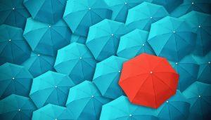 Ein Regenschirm ist ein Regenschirm