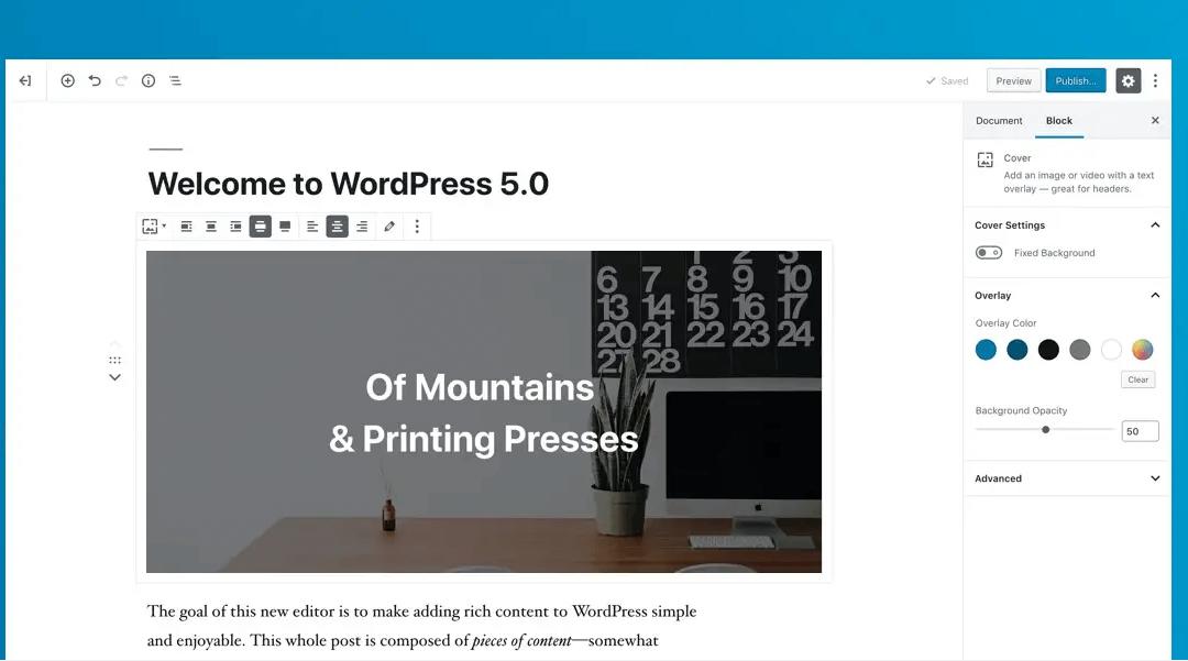 Wie du deine Website auf WordPress 5.0 vorbereitest