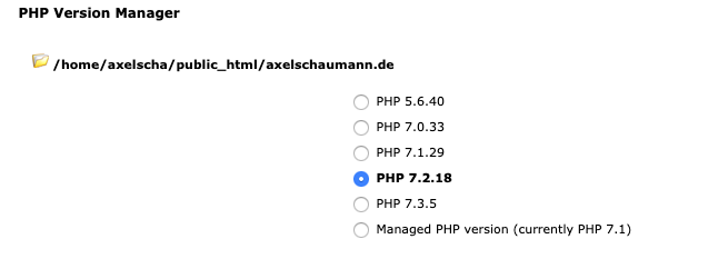 PHP-Versionsmanager